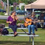 Musicians at the Boothbay Farmers Market