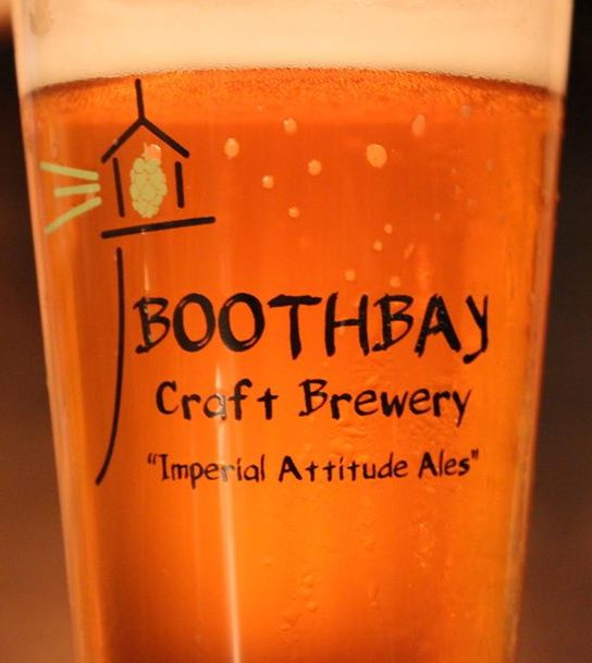 Beer glass from Boothbay Craft Brewery