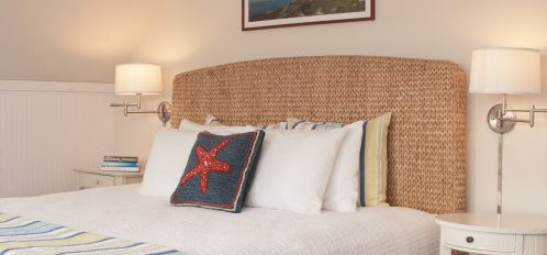 Enjoy a king size bed with a luxury firm mattress on a light Seagrass headboard
