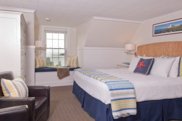Two place to comfortably sit and enjoy the relaxation of your Boothbay Harbor getaway.