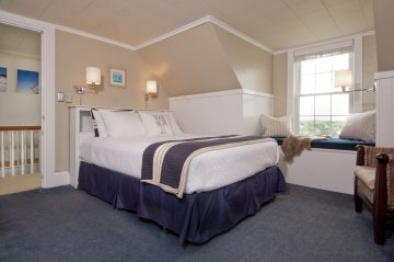 Room 7, Main Guest House, with luxury firm queen mattress, and tub/shower combination