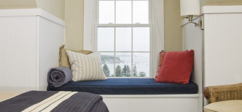 Comfortable window seat to enjoy ample sunshine and spectacular views
