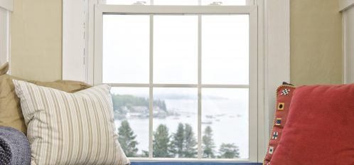 Stunning harbor views can be enjoyed from the built-in window seat