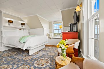 Quiet room on the third floor with spectacular harbor views.