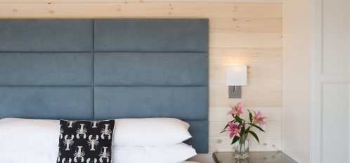 Custom headboard and luxury firm king mattress