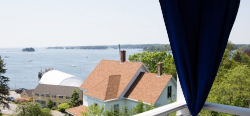 View from the corner room on the 2nd floor is among the best at the Topside Inn