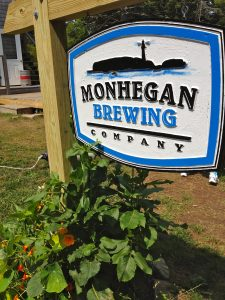 Monhegan Brewing Company sign