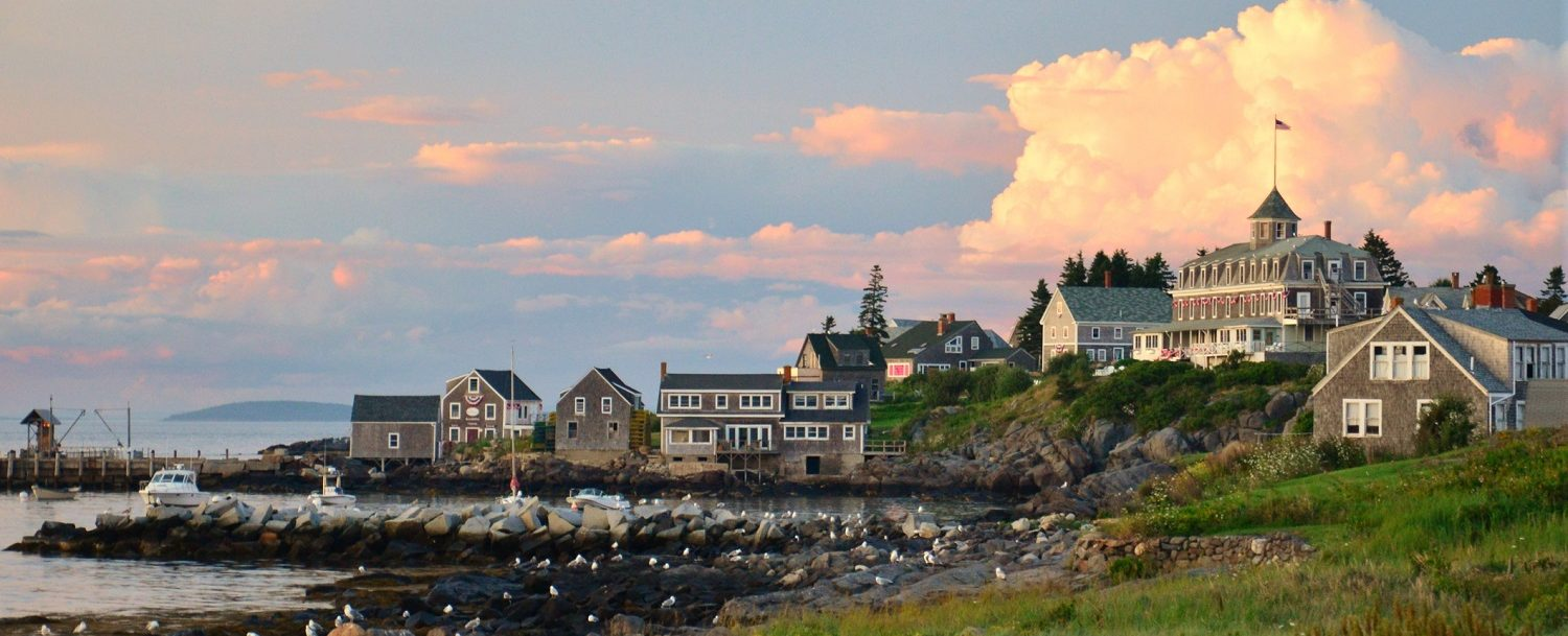 View of Monhegan Island, home to several great restaurants and scenery