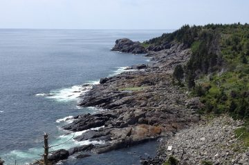 rocky beach at Monhegan Island