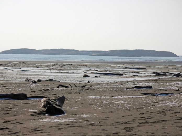 Low tide at Popham Beach State Park