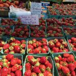 Strawberries at the Boothbay Farmers Market