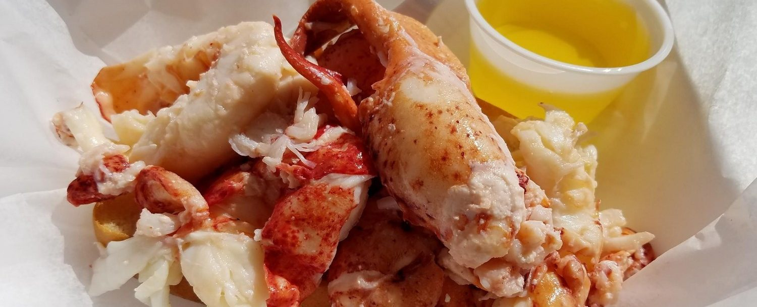Lobster meat and butter at Shannon's Unshelled