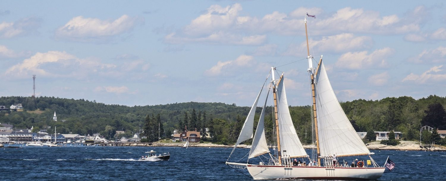 People enjoying a schooner ride: a favorite activity on our Maine Vacation Itinerary