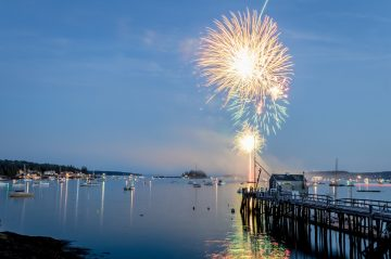 Fireworks at a Boothbay Harbor festival