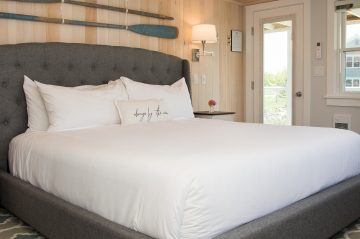 Room 19, Windward Guest House, king bed with luxury firm mattress, tub/shower combination in the private bath