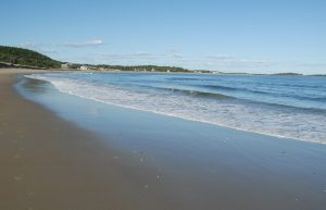 Popham Beach, one of the state parks near Boothbay Harbor