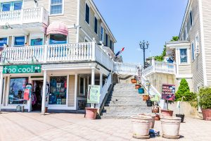 Shopping plaza in Kennebunkport, Maine