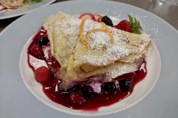 Crepes from breakfast at Topside Inn