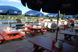 Outdoor deck at Robinson's Wharf