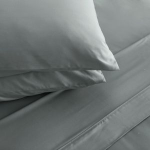 sheet set silver blue