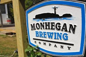 The sign outside Monhegan Island Brewing Company