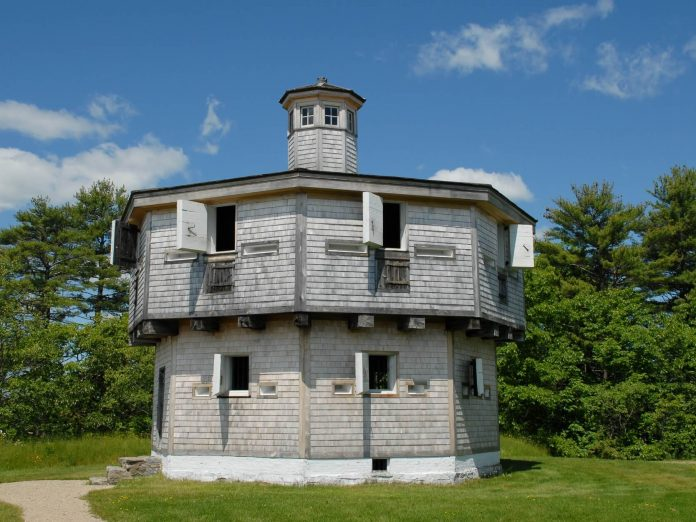 The Blockhouse at Fort Edgecomb Historic Site in Maine