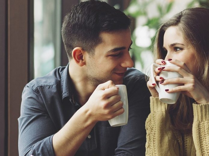 couple drinking coffee | Romantic weekend in maine